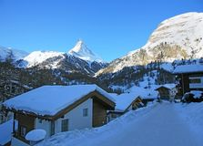 Swiss resort Zermatt Royalty Free Stock Image