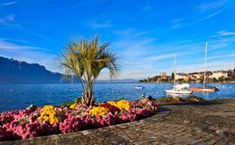 Swiss riviera Stock Image