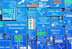 Swiss road signs Stock Image