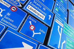 Swiss road signs Stock Photography