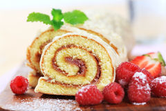 Swiss roll Stock Image