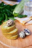 Swiss roll with cheese Royalty Free Stock Photos