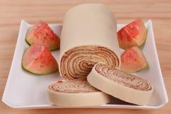 Swiss roll di de rolo del bolo, dessert del brasiliano del dolce del rotolo Immagine Stock Libera da Diritti