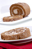 Swiss roll filled with cream Royalty Free Stock Images