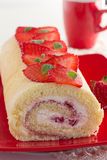 Swiss roll filled with cream Royalty Free Stock Photo