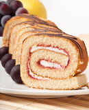 Swiss roll with jam Royalty Free Stock Image