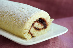 Swiss Roll with Jam Royalty Free Stock Photography
