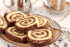 Swiss roll Royalty Free Stock Photo