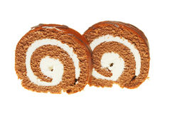 Swiss roll slices Stock Image