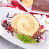 Swiss roll, yule log Royalty Free Stock Photography