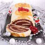 Swiss roll, yule log Stock Image