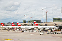 Free SWISS S Air Crafts At Zurich Airport 2 Stock Image - 24898561