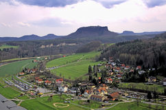 Swiss saxony landscape Royalty Free Stock Images
