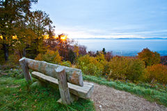 Swiss Scenic View. View of mountain scenery and forest in autumn Royalty Free Stock Photo