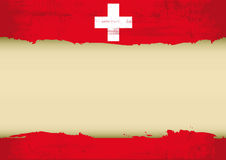 Swiss scratched flag Stock Photo