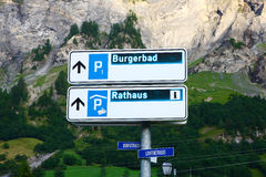 Swiss signpost Royalty Free Stock Image