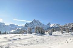 Swiss skiing resort Stock Photos