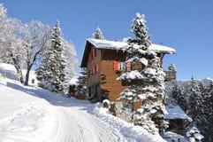 Swiss skiing resort Stock Photo