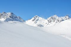 Swiss skiing resort Royalty Free Stock Images