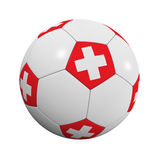 Swiss Soccer Ball Stock Photography
