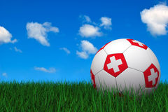 Swiss soccer ball Stock Images