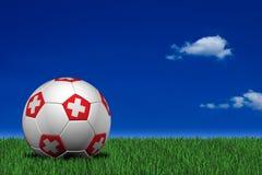 Swiss soccer ball Royalty Free Stock Photo