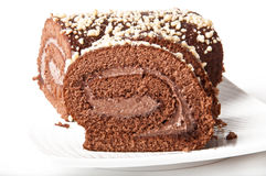 Swiss Sponge Roll Stock Photography