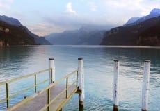 Swiss spring lake Royalty Free Stock Image