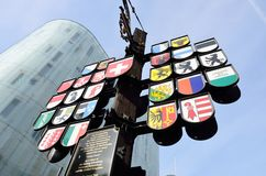 Swiss square monument Stock Photos