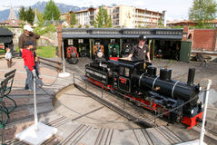 The Swiss Steam Park in Bouveret on Switzerland Stock Image