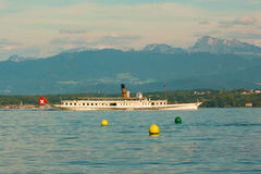 Swiss tourist boat Royalty Free Stock Photography
