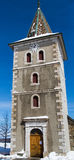 Swiss Tower. Swiss village tower in winter Stock Photography