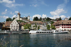 Swiss Town Schaffausen Royalty Free Stock Photos