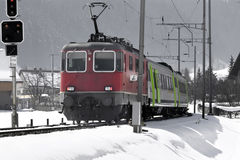Swiss train Stock Image