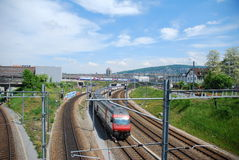 Swiss train Royalty Free Stock Image