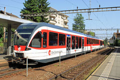 Swiss train at Hergiswil Stock Image