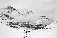 Kleine Scheidegg station in Switzerland Stock Images