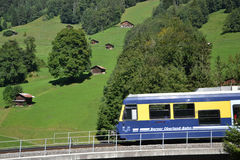 Swiss train Royalty Free Stock Image