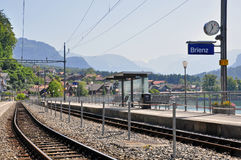 Swiss train station Stock Photography