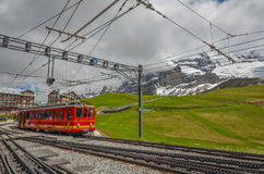Swiss train system, Switzerland Stock Photos