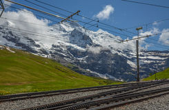 Swiss train system, Switzerland Royalty Free Stock Image