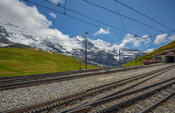 Swiss train system, Switzerland Royalty Free Stock Photos
