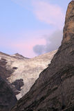 Swiss Upper Grindelwald Glacier in evening light stock image