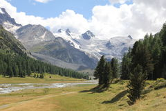 Swiss valley Royalty Free Stock Image