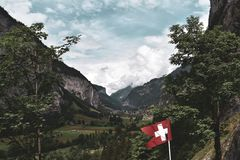 Swiss Valley royalty free stock photography