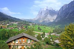 Swiss valley view Royalty Free Stock Photography