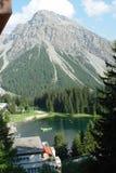 Swiss Villag View. Arosa Switzerland Village Lake View royalty free stock image