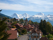 Swiss village Royalty Free Stock Photos