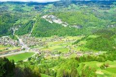 Swiss village at Alps. Swiss village near Reichenbach in Switzerland Stock Photos