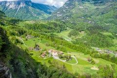 Swiss village at Alps. Swiss village near Reichenbach in Switzerland Stock Image